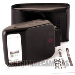 Canon Speedlite 200E Dedicated TTL Auto Flash for most Canon EOS Film SLRs, with Case & Instructions